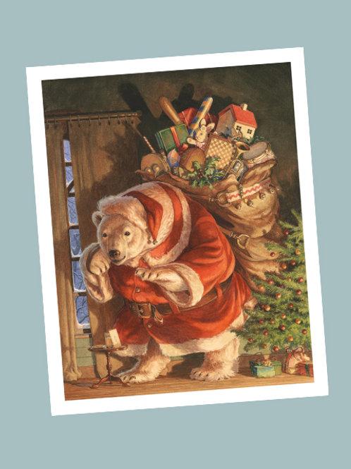 'Santa Paws' Print