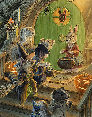 It's halloween and Jimmy Squirrel is boasting about his treehouse. His otter, ringtail cat, skunk, shrew and rabbit friends are not impressed. Paisley Rabbit and the Treehouse Contest - written by Steve Richardson, illustrated by Chris Dunn.