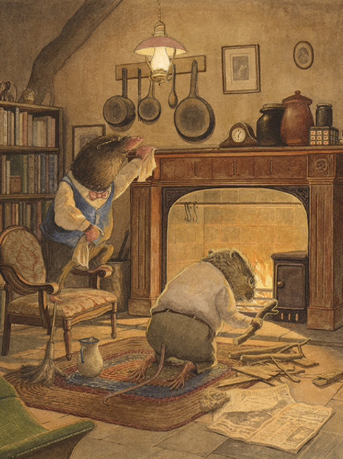 'Cleaning Mole's House' Print
