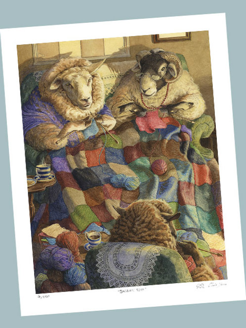 'Knitting Circle' Signed Limited Edition Print