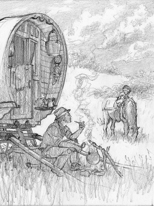'Meeting The Gipsy' original drawing
