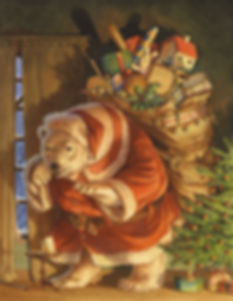 It's Christmas and a jolly polar bear Santa finds a thank you card waiting for him, propped against a glass of milk and plate of cookies. Paisley Rabbit and the Treehouse Contest - written by Steve Richardson, illustrated by Chris Dunn.