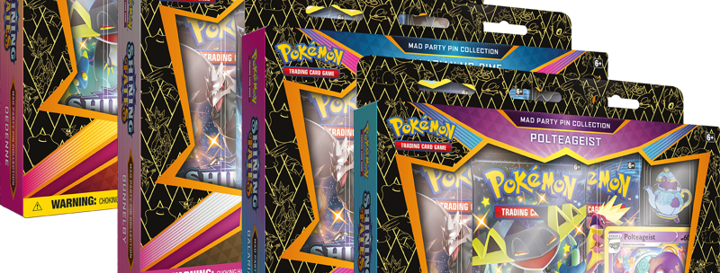 Pokemon - Shining Fates Mad Party Pin Box (Set of four)