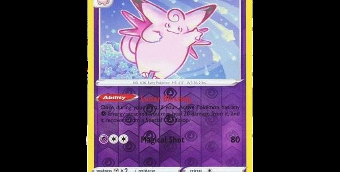 Pokémon Vivid Voltage 064/185 Clefable (Reverse Holo)