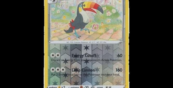 Pokémon Vivid Voltage 145/185 Toucannon (Reverse Holo)