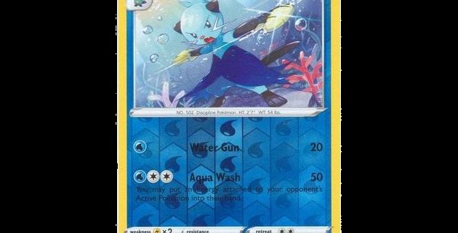 Pokémon Vivid Voltage 034/185 Dewott (Reverse Holo)