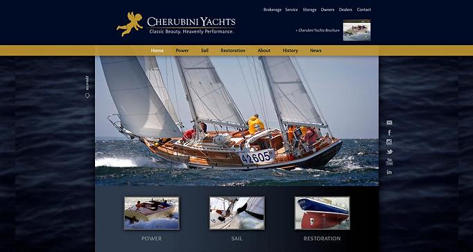 Cherubini Yachts Website Created By Random Thought Studio