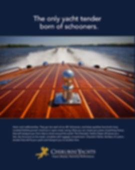 Print Advertising for Cherubini Yachts created by Random Thought Studio