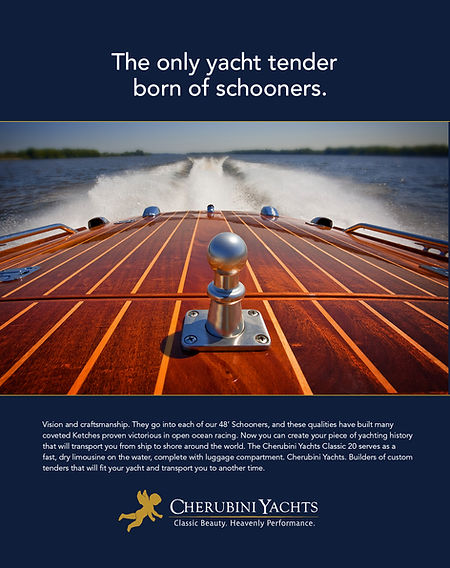 Print Advertising for Cherubini Yachts created by Random Thought Studio