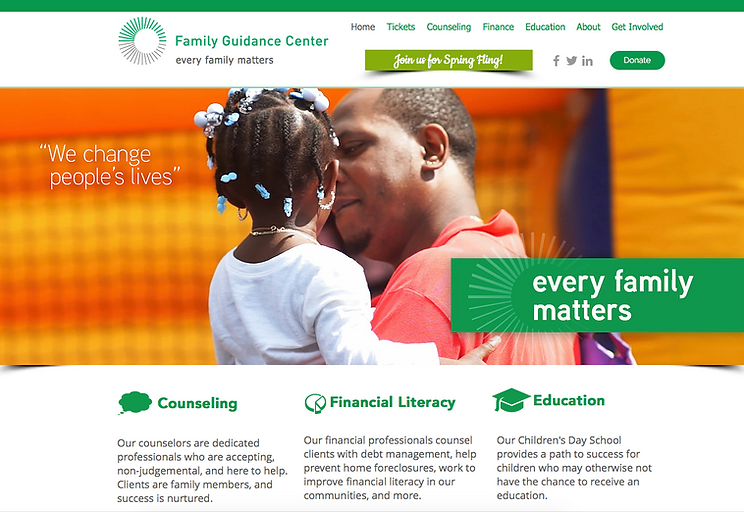 Family Guidance Center website created by Random Thought Studio