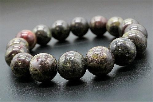 天然石 ブラッドストーン ブレスレット 約11-12mm ジュエリーボックス付き パワーストーン 安産 妊娠 一族の繁栄【E-140】