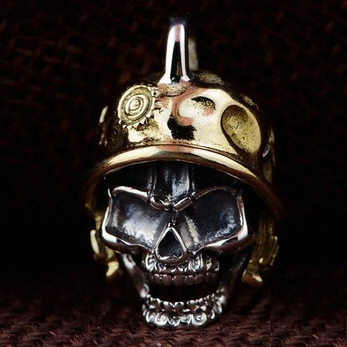 スカル 頭蓋骨 髑髏 ドクロ 帽子 スターリングシルバー 925 ペンダントトップ チャーム メンズ【E-101】