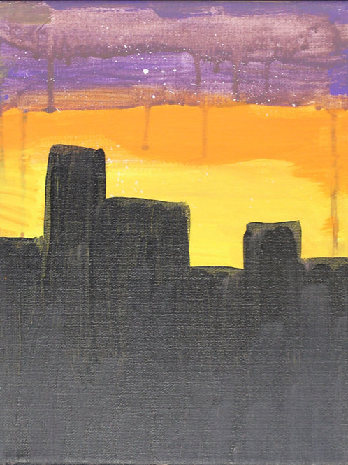 City Painting on canvas