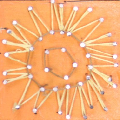 Sunflower String Art on wood