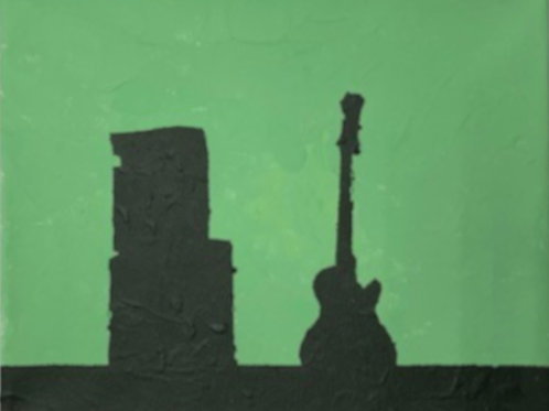 Guitar Painting on Canvas