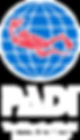 PADI_logo_150dpi_Vert_Rev_Trap_Tag_RGB.p PADI logo Dive Master