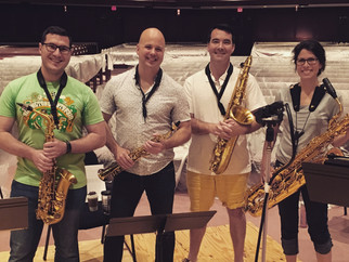 Recording session with USAF Saxophone Quartet
