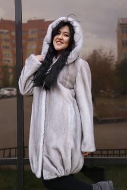 Женская норковая шуба, Астана