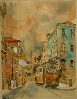 Eléctrico_perto_da_Sé_de_Lisboa_62x47cm