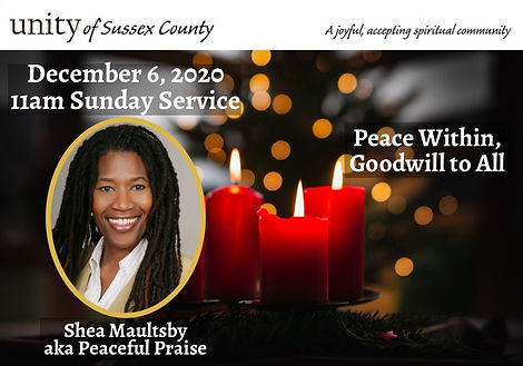 2020-12-06_UoSC Sunday Service_Peace Wit