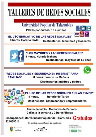 Talleres de redes sociales.