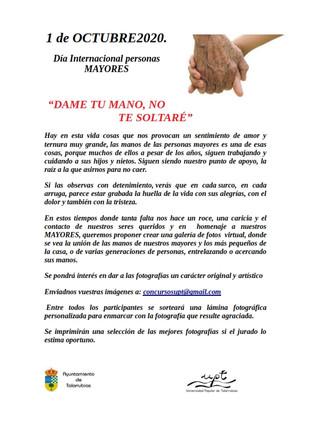 DÍA INTERNACIONAL DE LAS PERSONAS MAYORES, EL 1 DE OCTUBRE.