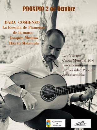 Dará comienzo la Escuela de Flamenco de la mano de Joaquin Muñino. Para inscripciones en la Universi