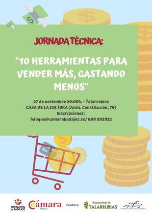"""Jornada técnica: """"10 herramientas para vender más, gastando menos""""."""