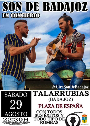 SON DE BADAJOZ. Sábado, 29 de agosto a las 22:30 h en la Plaza de España.