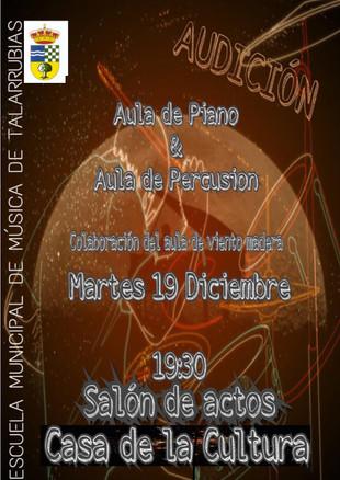 Audición de Piano y Percusión de la Escuela Municipal de Música de Talarrubias