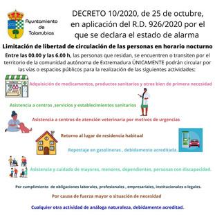 En Extremadura no se permite la circulación por las vías públicas de 00:00 a 06:00 h. exceptuando: