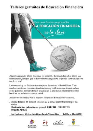 Talleres Gratuitos de Educación Financiera.