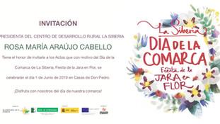 Invitación y Programa del Día de la Comarca.