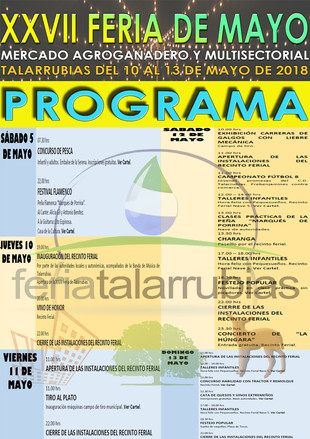 Programa Feria de Mayo de Talarrubias 2018.