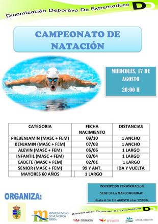 Campeonato de Natación.