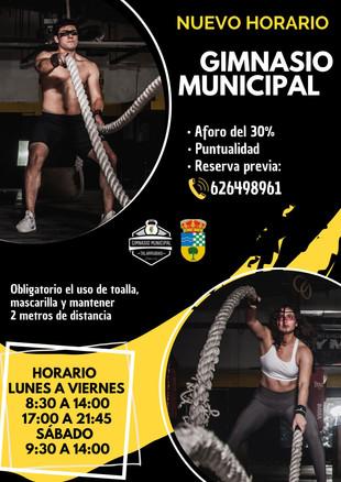 NUEVO HORARIO PARA EL GIMNASIO MUNICIPAL.