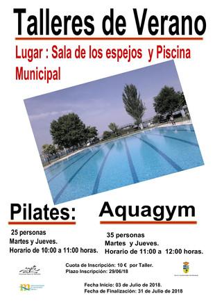 Talleres de verano: Pilates y Aquagym.