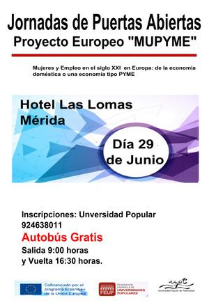"""Jornadas de Puertas Abiertas""""MUPYME""""."""
