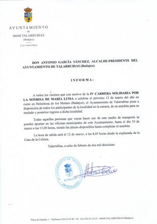 Anuncio: Carrera Solidaria.