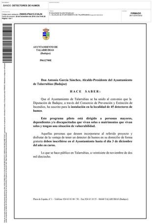 Bando 'Detectores de humo'.