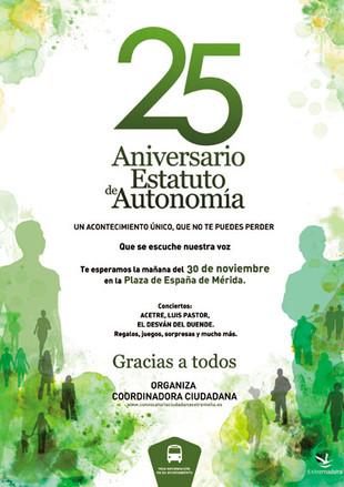 25 Aniversario del Estatuto de Autonomía.
