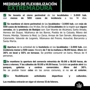 MEDIDAS DE FLEXIBILIZACIÓN EN EXTREMADURA.