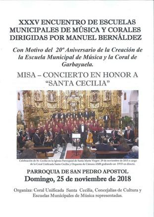 XXXV Encuentro de Escuelas Municipales de Música y Corales.