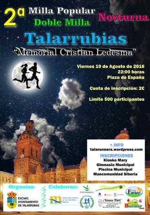 II Milla Popular 'Memorial Cristian Ledesma'.