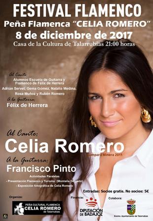 """Festival Flamenco Peña Flamenca """"Celia Romero""""."""