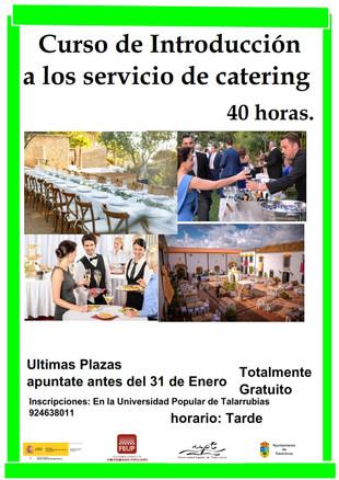 Curso de introducción a los servicios de catering.