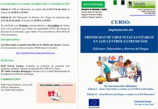 Curso 'Protocolo de Urgencias Sanitarias'