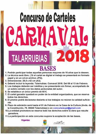 Concurso para determinar el cartel de los Carnavales 2018.