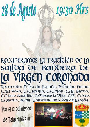 Salida de la Bandera de la Virgen Coronada.