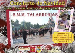Concierto de Navidad de la BMM de Música de Talarrubias.